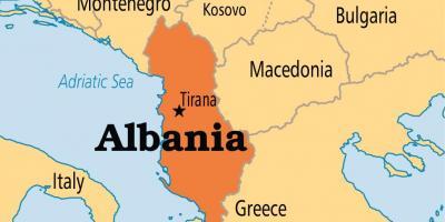 Cartina Albania Fisica.Albania Mappa Mappe Albania Europa Del Sud Europa
