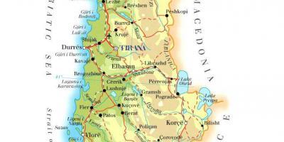 Albania Cartina Stradale.Albania Mappa Mappe Albania Europa Del Sud Europa